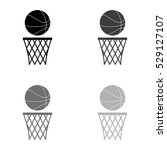 basketball    black vector icon | Shutterstock .eps vector #529127107