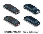 flat isometric limousine... | Shutterstock .eps vector #529138867
