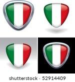 italian flag crest | Shutterstock .eps vector #52914409