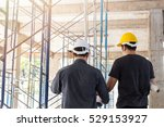 two business man construction... | Shutterstock . vector #529153927