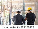 two business man construction... | Shutterstock . vector #529153927