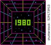 pixel 1980 retro message | Shutterstock .eps vector #529173913