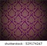 damask background dark magenta  ... | Shutterstock .eps vector #529174267