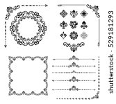vintage set of classic elements.... | Shutterstock .eps vector #529181293