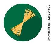 spaghetti pasta icon in flat... | Shutterstock .eps vector #529189513