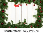 christmas decoration  red toys... | Shutterstock . vector #529191073