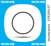 record button sign line  vector ...