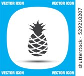 pineapple vector icon. tropical ... | Shutterstock .eps vector #529210207