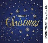 merry christmas gold glittering ...   Shutterstock .eps vector #529218187