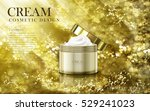 smooth cosmetic cream contained ... | Shutterstock .eps vector #529241023