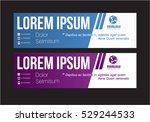 creative horizontal banner... | Shutterstock .eps vector #529244533