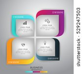 business concept 4 steps... | Shutterstock .eps vector #529247503