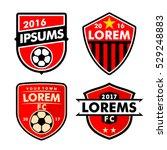 football logo badges set... | Shutterstock .eps vector #529248883