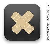 illustration of injury tape... | Shutterstock .eps vector #529249177