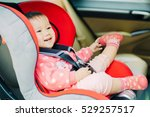 baby sit in the car seat for... | Shutterstock . vector #529257517