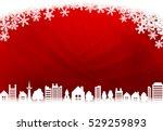 christmas red city | Shutterstock .eps vector #529259893