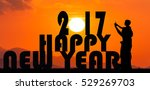 new year 2017 concept ... | Shutterstock . vector #529269703