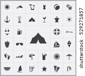tent icon. beach icons... | Shutterstock . vector #529271857