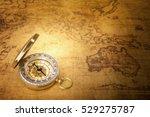old vintage compass on vintage... | Shutterstock . vector #529275787