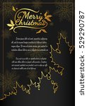 christmas card from vector... | Shutterstock .eps vector #529290787