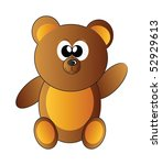 little vector happy teddy bear... | Shutterstock .eps vector #52929613