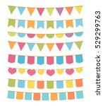 different colorful bunting for... | Shutterstock .eps vector #529299763