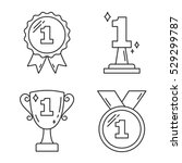 first place award   line icons  ... | Shutterstock .eps vector #529299787