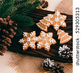 beautiful christmas background... | Shutterstock . vector #529305313