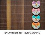 beautiful painted gingerbread   Shutterstock . vector #529330447