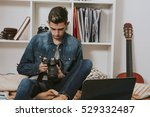 photographer with the camera's... | Shutterstock . vector #529332487