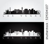 Stock vector las vegas usa skyline and landmarks silhouette black and white design vector illustration 529334107