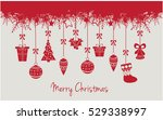 merry christmas greeting card... | Shutterstock .eps vector #529338997