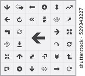 arrows icons universal set for... | Shutterstock . vector #529343227