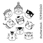 cat set perfect for t shirt... | Shutterstock .eps vector #529343263