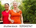fitness.  women walking and... | Shutterstock . vector #529343767