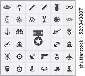 army icons universal set for... | Shutterstock . vector #529343887
