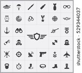 army icons universal set for... | Shutterstock . vector #529344037