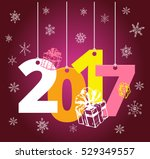 christmas and new year objects. ... | Shutterstock .eps vector #529349557