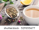 mix of herbal tea and cup of... | Shutterstock . vector #529355677