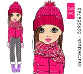 cute little girl in winter...