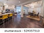 luxury modern kitchen and... | Shutterstock . vector #529357513