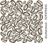 painted coffee beans sketch... | Shutterstock .eps vector #529359643