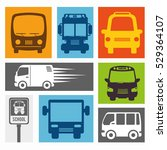 bus travel service public   Shutterstock .eps vector #529364107