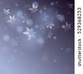 vector snowflakes falling ... | Shutterstock .eps vector #529368253