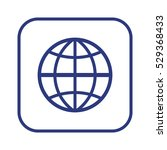 globe  icon vector. flat design. | Shutterstock .eps vector #529368433