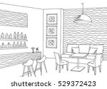 cafe bar interior graphic... | Shutterstock .eps vector #529372423