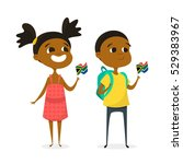 vector illustration of two... | Shutterstock .eps vector #529383967