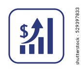 business graph   icon  isolated.... | Shutterstock .eps vector #529397833