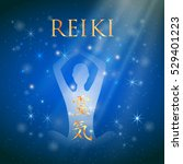 sacred geometry. reiki symbol.... | Shutterstock .eps vector #529401223