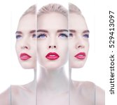 fashion studio portrait of... | Shutterstock . vector #529413097